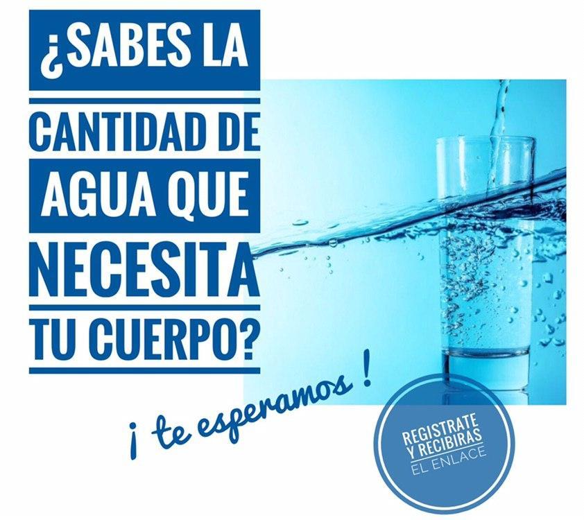 ¿Sabes qué cantidad de agua necesita tu cuerpo?